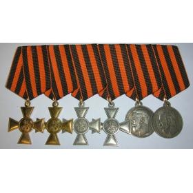 """Георгиевские кресты и 3, 4 степень медали """"За храбрость"""""""