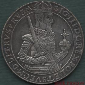 1 талер 1630 год Сигизмунд III Польша копия