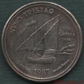 100 эскудо 1987 года Копия серебряной монеты Португалия