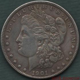 Копия серебряного доллара США 1901 года