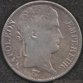5 франков 1807 года император Наполеон Франция
