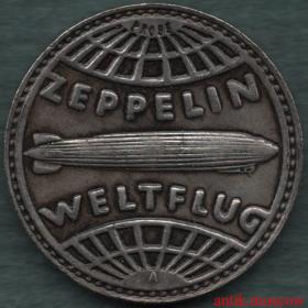 5 рейхсмарок 1929 года В память великого полета Цеппелина - пробная