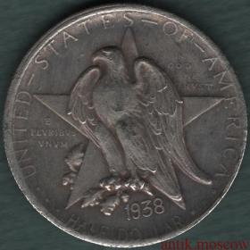 Полдоллара (50 центов) США 1938 года Remember the Alamo