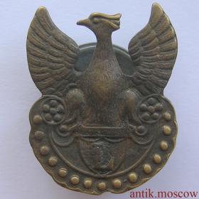 Знак - кокарда Орел Польских Легионов L 1914-1917 гг