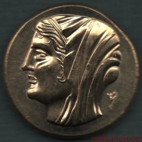 Античная монета Ангел на колеснице