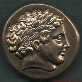 Античная монета Колесница Профиль императрицы