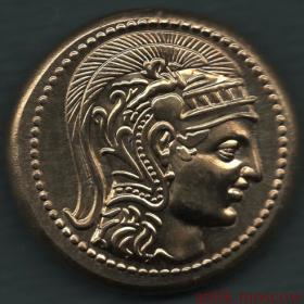 Античная монета с Совой и портретом императрицы