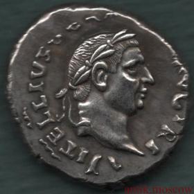 Античная монета Правитель на троне