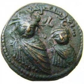 Монета Артукидов бронзовая