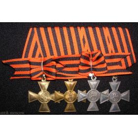 Кресты Георгия 1, 2, 3, 4 степени с бантами