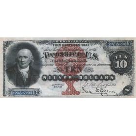 Купюра 10 долларов 1880 года