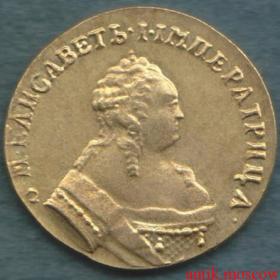 Золотой червонец 1749 года