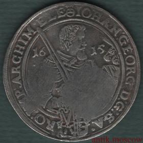 Ефимок с признаком надчекан на талере Иогана 1615 года