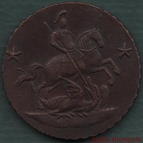 Грошь 1762 года Барабаны - отличная медная копия