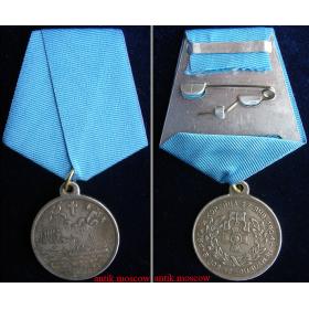 Медаль Чемульпо на колодке с лентой