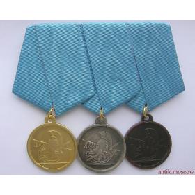 Медали В честь заслуженном солдату 1806 г - копии 3 штуки на колодке