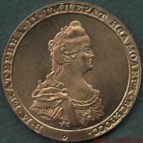 Модуль червонца 1796 года Мэтью Боултона - копия под золото