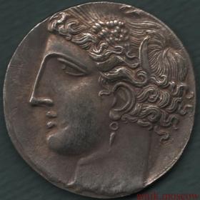 Копия серебряной монеты Карфагена