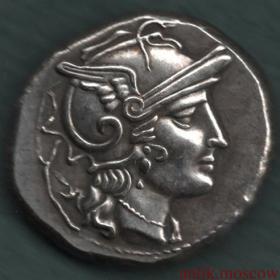 Красивая античная монета Roma (Рим)
