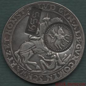 Ефимок с признаком надчекан на талере 1606 года