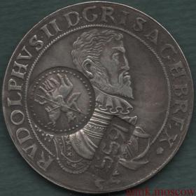 Ефимок с признаком надчекан на талере 1609 года