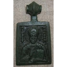 Икона меднолитая 12-13 век Николай Чудотворец