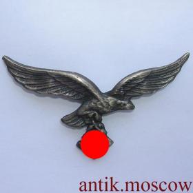 Пилот Люфтваффе На головной убор Копия, бронза