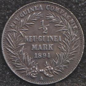 Полмарки Новая Гвинея 1894 года