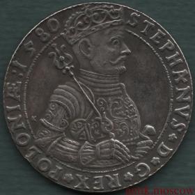 Талер 1580 года Стефан Баторий копия польской монеты