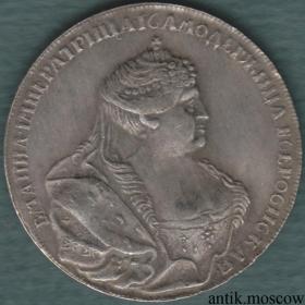 Полтина (50 копеек) Анны Иоанновны 1740 года тип 2