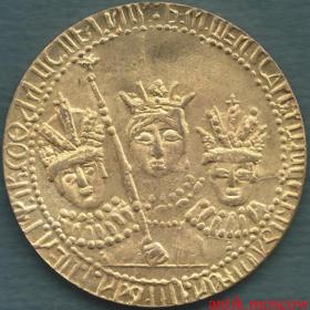 Рубль 1683 года Царевна Софья, Иван и Петр