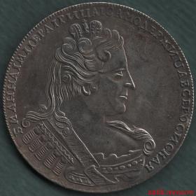 Рубль 1733 года Анна Иоанновна