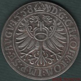 Талер 1558 года Саксония курфюрст Август