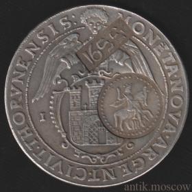 Ефимок с признаком надчекан на талере 1632 года