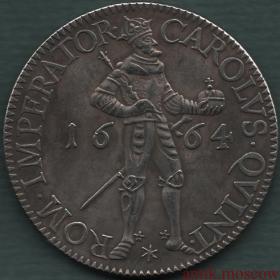 Талер 1664 года Император Карл V Свободный город Безансон