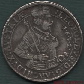 Талер 1632 года Леопольд копия серебряной монеты