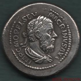 Реплика серебряной античной монеты