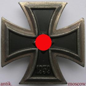 Железный крест 1 класса (степени) 1939 года со свастикой, на булавке