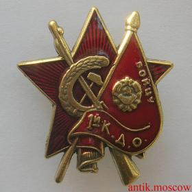 Знак Звезда бойцу 1-й конной армии - копия